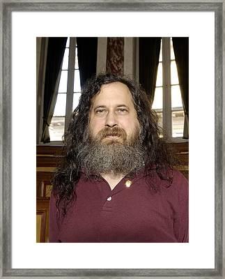 Richard Stallman, Software Developer Framed Print by Volker Steger