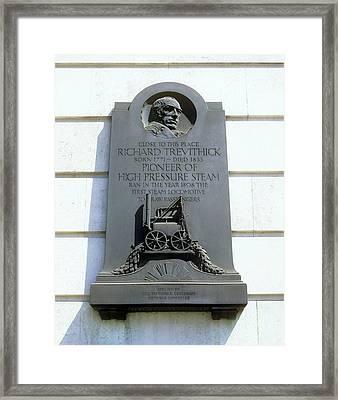 Richard Trevithick Plaque Framed Print