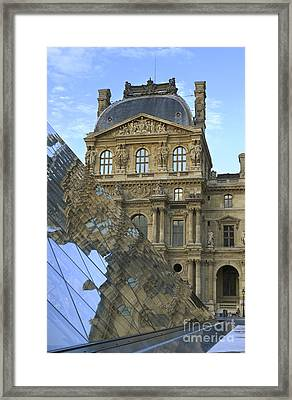 Richelieu Wing Of The Louvre Museum In Paris Framed Print