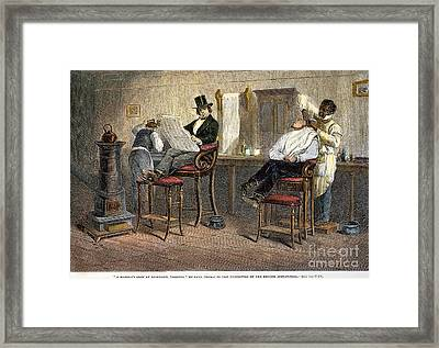 Richmond Barbershop, 1850s Framed Print