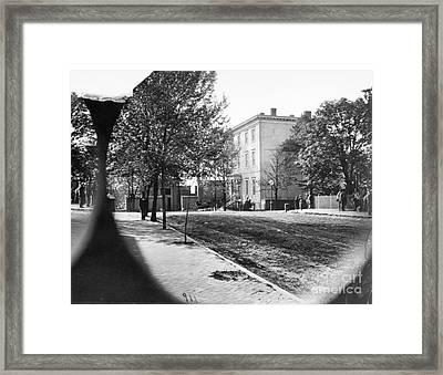 Richmond: Davis Home, 1865 Framed Print by Granger