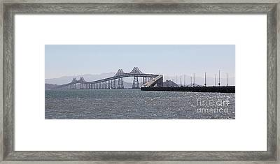 Richmond-san Rafael Bridge In California - 5d18433 - Long Framed Print