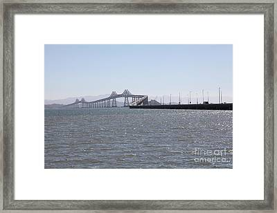 Richmond-san Rafael Bridge In California - 5d18435 Framed Print