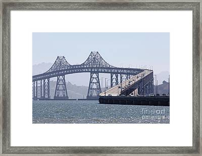 Richmond-san Rafael Bridge In California - 5d18440 Framed Print