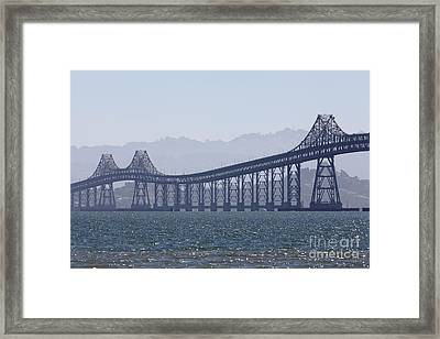 Richmond-san Rafael Bridge In California - 5d18441 Framed Print
