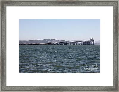 Richmond-san Rafael Bridge In California - 5d18457 Framed Print