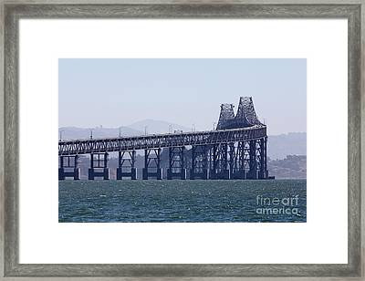 Richmond-san Rafael Bridge In California - 5d18461 Framed Print