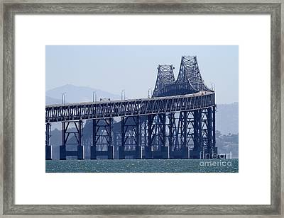 Richmond-san Rafael Bridge In California - 7d18536 Framed Print