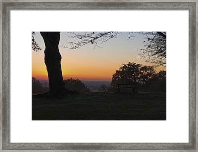 Richmond Sunset Framed Print by Maj Seda