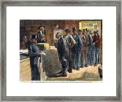 Richmond: Voting, 1871 Framed Print