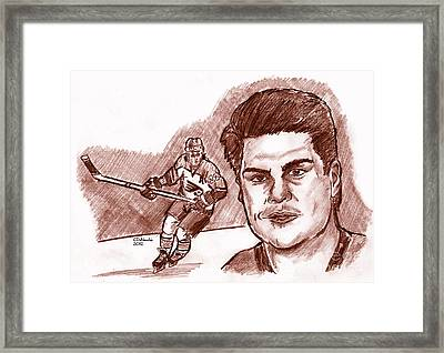 Rick Tocchet Framed Print by Chris  DelVecchio