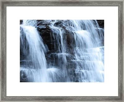 Ricketts Glen Waterfall 3942 Framed Print by David Dehner
