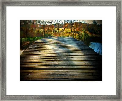 Rickety Bridge Framed Print by Joyce Kimble Smith