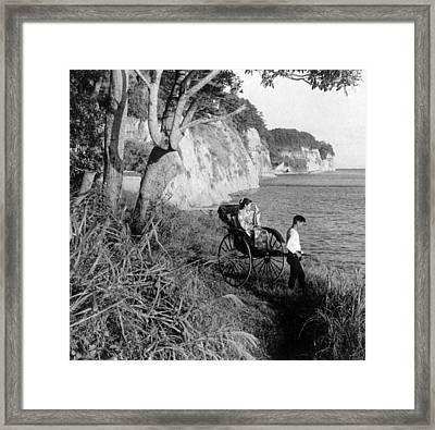 Rickshaw By The Negishi Seashore Framed Print by Everett