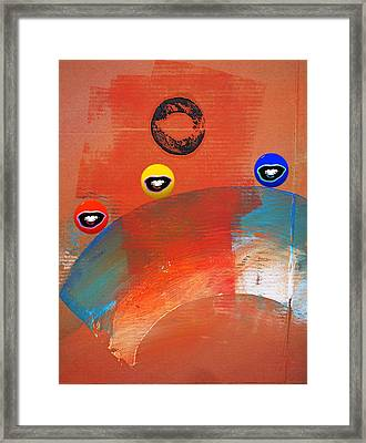 Ride A White Wave Framed Print by Charles Stuart