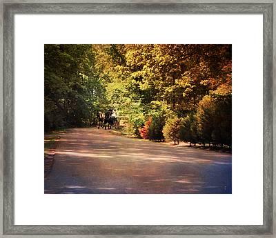 Ride At Timbers Farm Framed Print by Jai Johnson