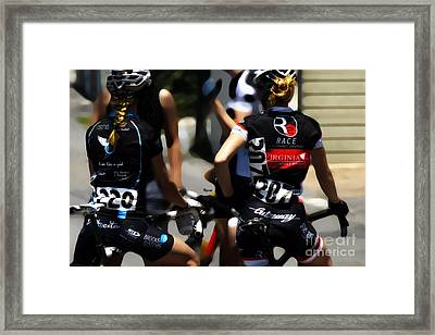 Ride Like A Girl  Framed Print