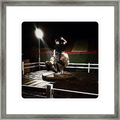 Ride The Bull Framed Print
