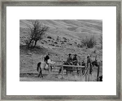 Riders Framed Print by LaDonna Vinson