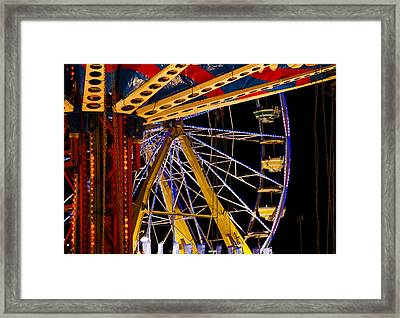 Framed Print featuring the photograph Rides by Michael Friedman