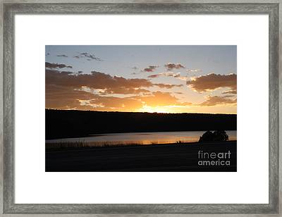 Ridgway Reservoir Sunset Framed Print