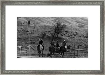 Ridin Out Framed Print by LaDonna Vinson