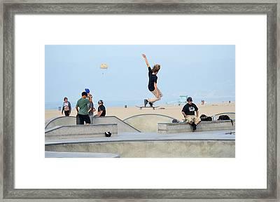 Riding Air Framed Print by Fraida Gutovich