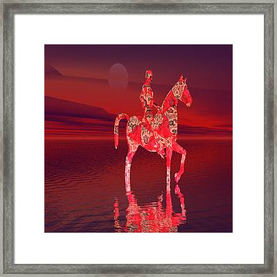 Riding At Dusk Framed Print by Matthew Lacey