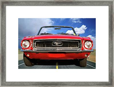 Riding In Style Framed Print by Gary Adkins