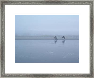 Framed Print featuring the photograph Riding In The Mist by Peter Mooyman