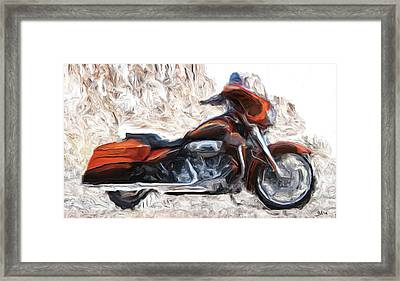 Riding In The Snow Framed Print by Wayne Bonney