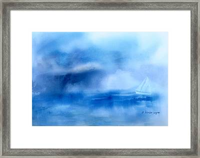 Riding Out The Storm Framed Print by Arline Wagner