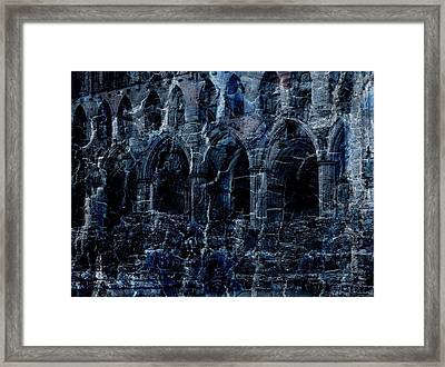 Rievaulx In The Crack Of Night Framed Print by Jen White