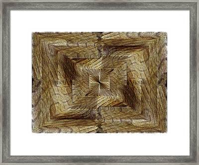 Rift In The Sand Framed Print by Tim Allen