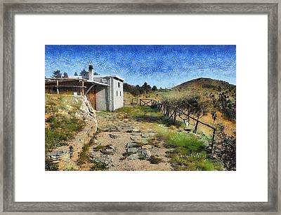 Rifugio Naturalistico Del Cai - Cai Bird Watching House Framed Print