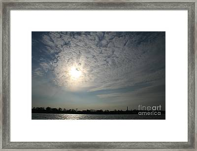 Riga Silhouette Framed Print by Valia Bradshaw