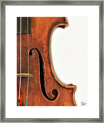 Right F Framed Print by Endre Balogh