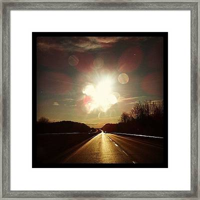 Right Now As We Head Home Framed Print by  Abril Andrade Griffith