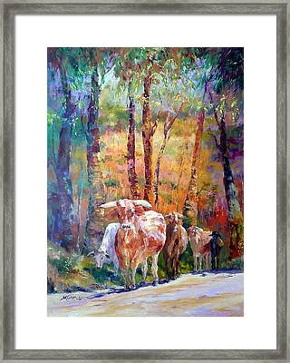 Right Of Way Framed Print by Marie Green