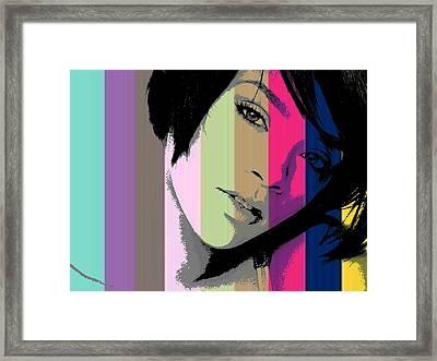 Rihanna 2 Framed Print by Chandler  Douglas