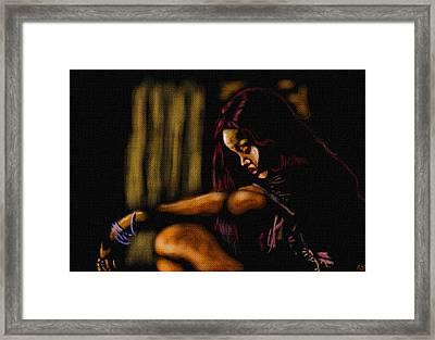 Rihanna Framed Print by Anthony Crudup