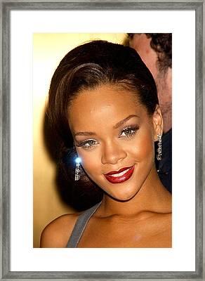 Rihanna At Arrivals For Fashion Rocks Framed Print by Everett
