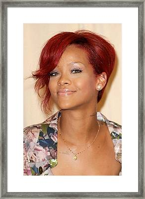 Rihanna At Arrivals For Rhianna  Book Framed Print by Everett