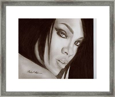 Rihanna Framed Print by Michael Mestas