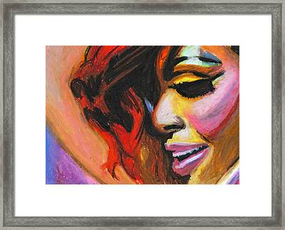 Rihanna Smile Framed Print by Siobhan Bevans
