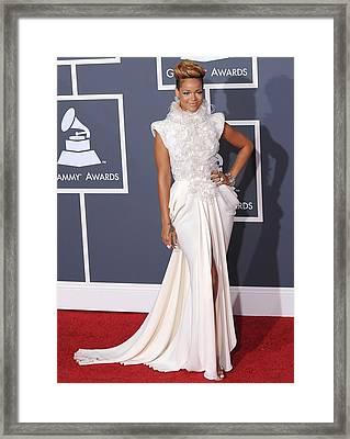 Rihanna Wearing An Elie Saab Haute Framed Print by Everett