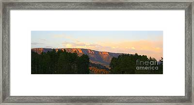 Rim Glow Framed Print