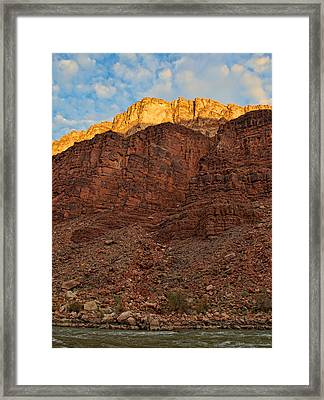 Rim Gold Framed Print