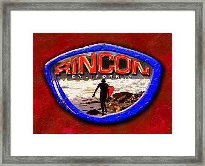 Rincon Logo Framed Print by Ron Regalado