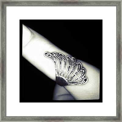 #ring #jewelry #hand #thumb #girlfriend Framed Print